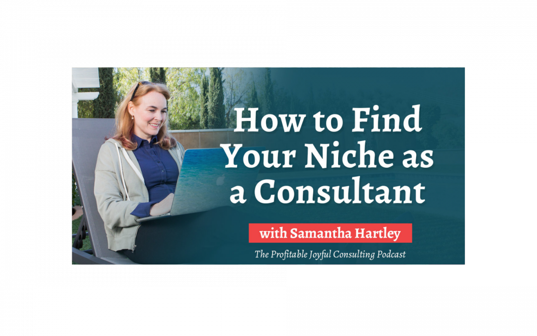 How to Find Your Niche as a Consultant