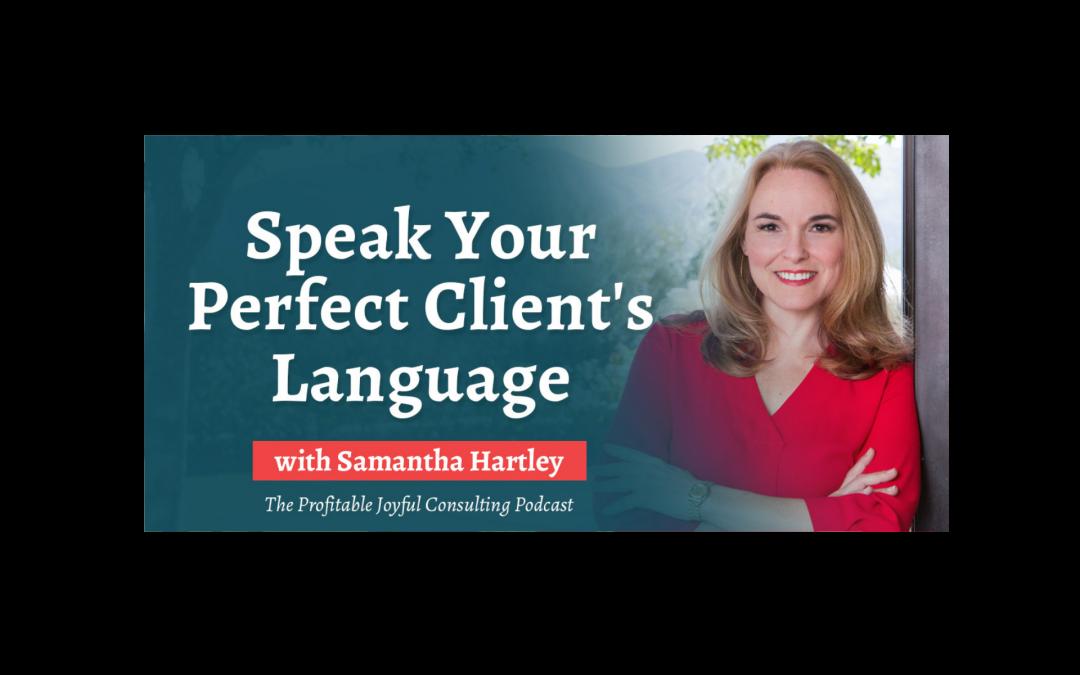 Speak Your Perfect Client's Language